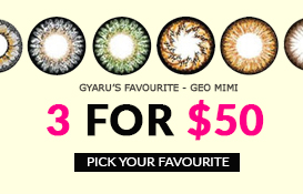 gyaru favourite geo mimi colored contacts