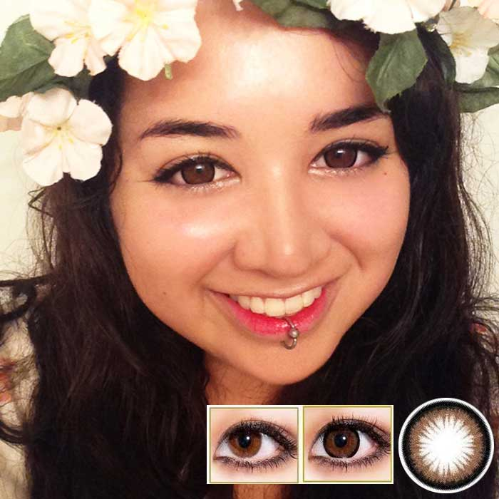 Geo Princess Mimi Bambi Lens in Almond
