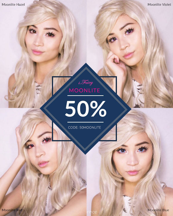 Portrait photo for iFairy Moonlite Colored Contacts real photo