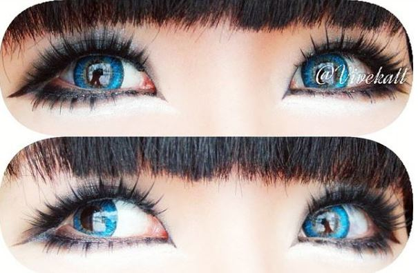 buy piffy 3 tones blue contact lens online