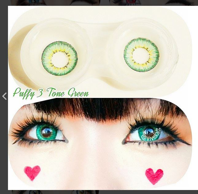 buy Puffy 3 Tones Green contact lens online