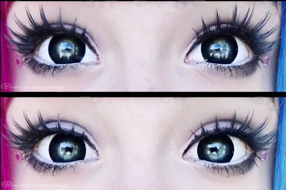 buy bold thick black ring contact lens online