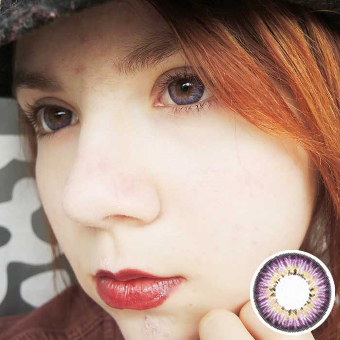 buy piffy 3 tones violet circle lens online