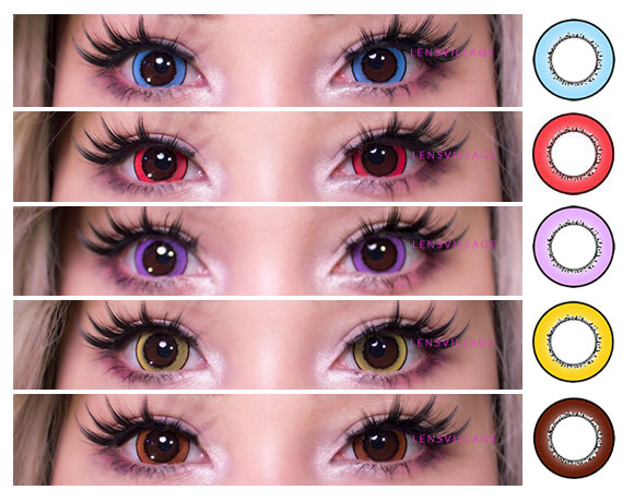 iFairy colored lenses close up photos suitable for cosplay
