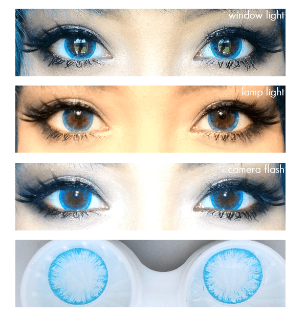 Icy Melon Blue Circle Lens