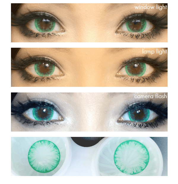 (Circle lens & colored contacts)