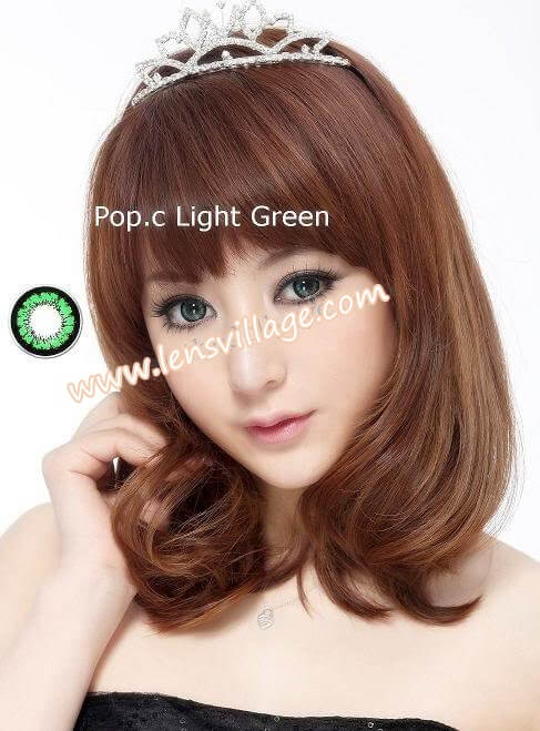 Pop.C Light Green Contacts Lenses