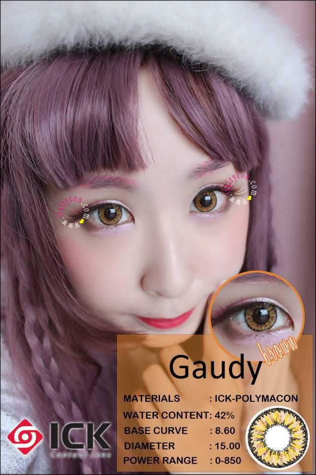 ICK Gaudy Brown Contacts
