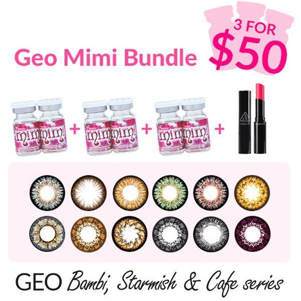 Geo Mimi Circle Lens - 3 pairs for USD50
