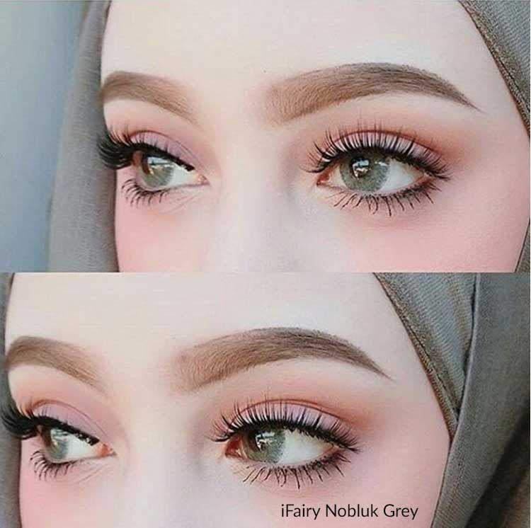 i.Fairy Nobluk Grey Circle Lens & Colored Contacts ...