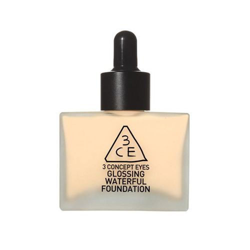 3CE GLOSSING WATERFUL FOUNDATION - Nude Beige