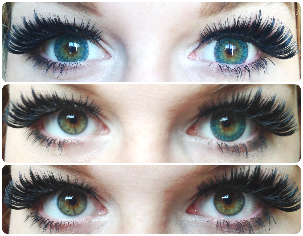 G 307 Gothic 3 Tones Turquoise Lens Natural Contacts For